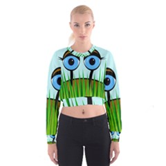 Snail Women s Cropped Sweatshirt