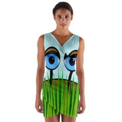 Snail Wrap Front Bodycon Dress