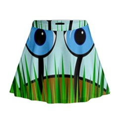 Snail Mini Flare Skirt
