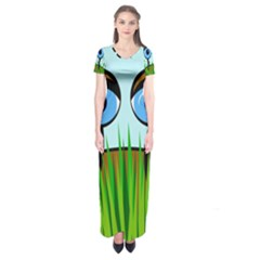 Snail Short Sleeve Maxi Dress