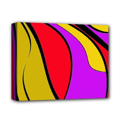 Colorful lines Deluxe Canvas 14  x 11