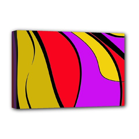 Colorful lines Deluxe Canvas 18  x 12