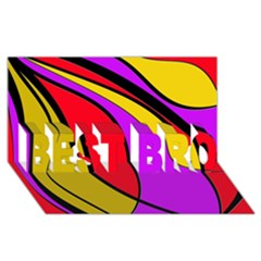 Colorful lines BEST BRO 3D Greeting Card (8x4)