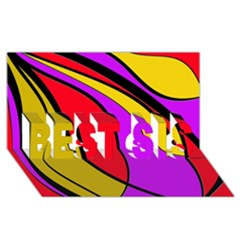 Colorful Lines Best Sis 3d Greeting Card (8x4)