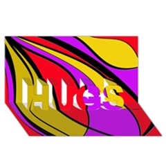 Colorful lines HUGS 3D Greeting Card (8x4)