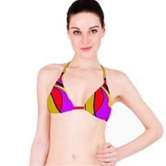 Colorful lines Bikini Top