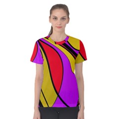 Colorful lines Women s Cotton Tee