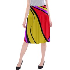 Colorful lines Midi Beach Skirt