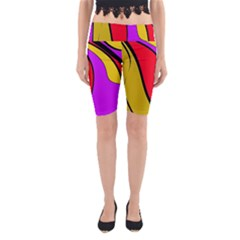 Colorful lines Yoga Cropped Leggings