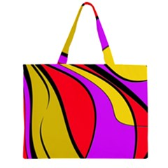 Colorful lines Large Tote Bag