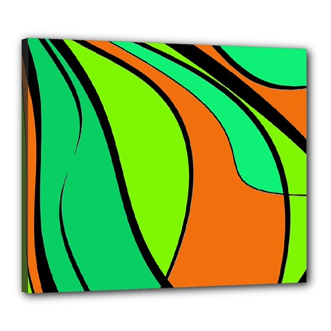 Green and orange Canvas 24  x 20