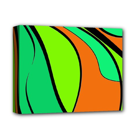 Green and orange Deluxe Canvas 14  x 11