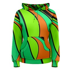 Green and orange Women s Pullover Hoodie