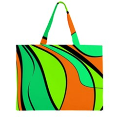 Green and orange Large Tote Bag