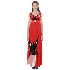 Black butterfly  Empire Waist Maxi Dress