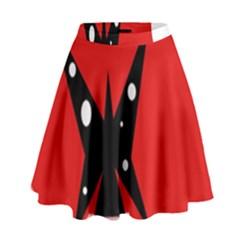 Black Butterfly  High Waist Skirt