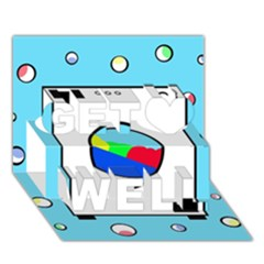 Washing machine  Get Well 3D Greeting Card (7x5)