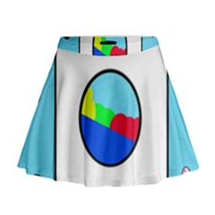 Washing Machine  Mini Flare Skirt