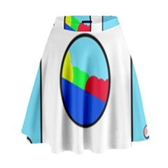 Washing Machine  High Waist Skirt