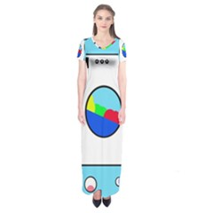 Washing Machine  Short Sleeve Maxi Dress