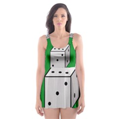Dice  Skater Dress Swimsuit