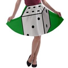 Dice  A Line Skater Skirt