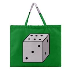 Dice  Zipper Large Tote Bag