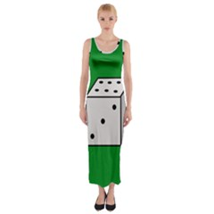 Dice  Fitted Maxi Dress