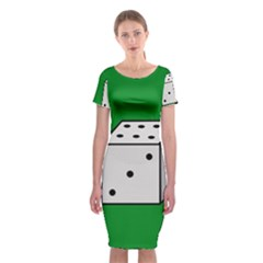Dice  Classic Short Sleeve Midi Dress