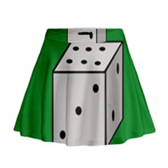 Dice  Mini Flare Skirt