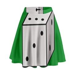 Dice  High Waist Skirt