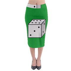 Dice  Midi Pencil Skirt