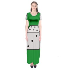 Dice  Short Sleeve Maxi Dress
