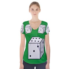 Dice  Short Sleeve Front Detail Top
