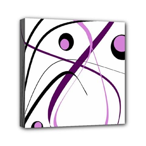 Pink elegant design Mini Canvas 6  x 6