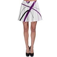 Pink Elegant Design Skater Skirt