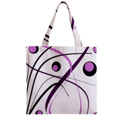 Pink Elegant Design Zipper Grocery Tote Bag