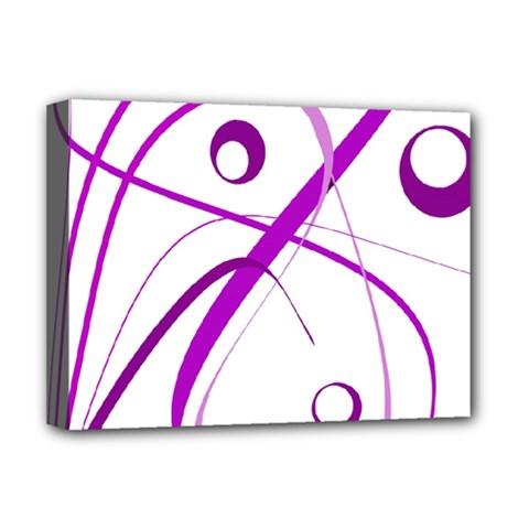 Purple elegant design Deluxe Canvas 16  x 12