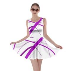 Purple elegant design Skater Dress