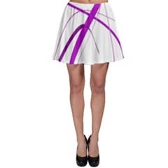 Purple elegant design Skater Skirt