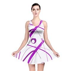 Purple elegant design Reversible Skater Dress