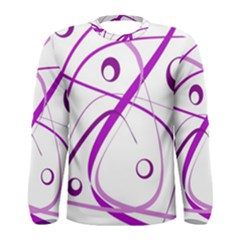 Purple elegant design Men s Long Sleeve Tee
