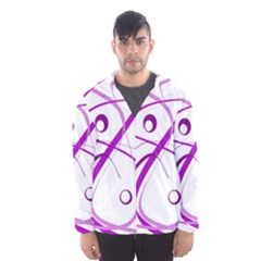 Purple Elegant Design Hooded Wind Breaker (men)