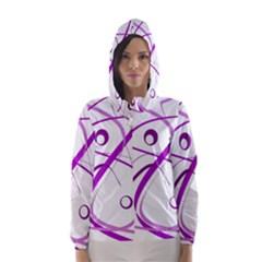 Purple elegant design Hooded Wind Breaker (Women)