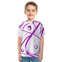 Purple elegant design Kid s Sport Mesh Tee