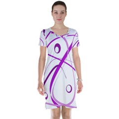 Purple elegant design Short Sleeve Nightdress