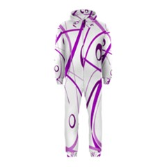 Purple Elegant Design Hooded Jumpsuit (kids)