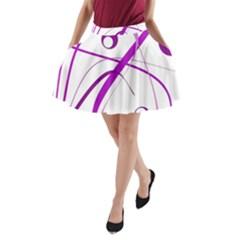 Purple elegant design A-Line Pocket Skirt