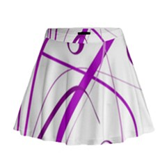 Purple Elegant Design Mini Flare Skirt