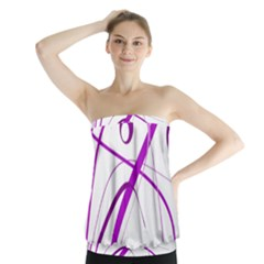 Purple Elegant Design Strapless Top